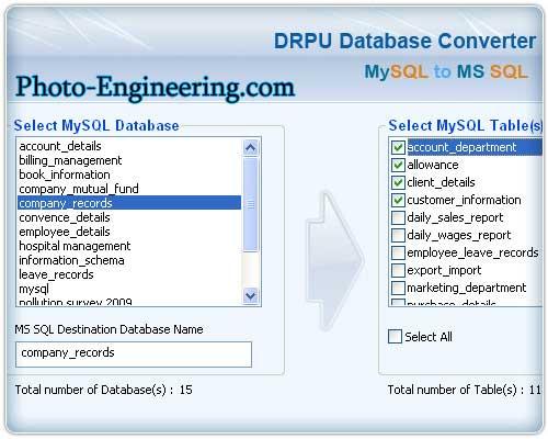 Windows 7 MySQL to Microsoft SQL 2.0.1.5 full