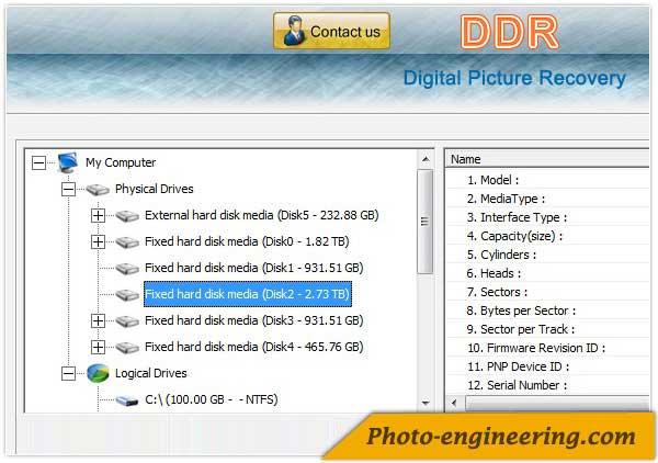 Windows 7 Digital Photo Recovery Tool 5.3.1.2 full